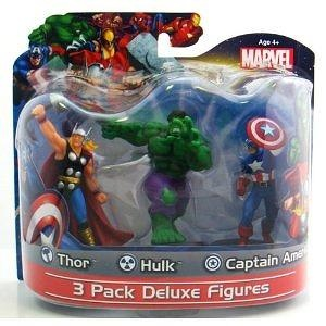 Marvel Figure Deluxe Three-Pack Series 01 - Captain America, Hulk, Thor