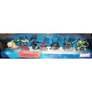 Spiderman Deluxe Figurine Figure Set of 7 with Villains Disney Exclusive