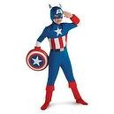 Captain America Classic Sm 4-6 Costume  Captain America Todd Muscle Halloween Costume