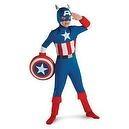 Captain America Classic Sm 4-6 Costume  Captain America Todd Muscle Halloween Costume