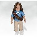 18 Inch Doll, Emma - Girl Scout Brownie Doll, Made in Vinyl