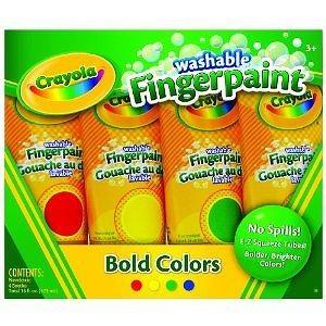 Crayola 4ct Washable Fingerpaints Primary