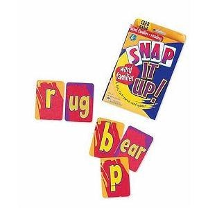 Learning Resources Snap It Up! Phonics and Reading Card Game, Word Families