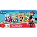 "Disney Mickey Mouse CLUBHOUSE 4 in 1 Card Games Set ""MEMORY MATCH"", ""RUMMY"", ""SNAP!"" and ""GO FISH"" in Tin Box"