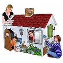 Discovery Kids Cardboard Color Me Play House