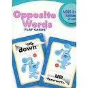 Blues Clues Opposite Words Flap Flash Cards