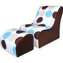 Fantasy Furniture Modern TV Chair, Blue Bubbles  Fantasy Furniture Modern TV Chair