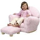 KidKraft Upholstered Rocker with Ottoman Pink Chenille  Kidkraft Chenille Upholstered Rocker and Ottoman