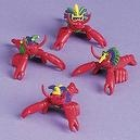 12 ct - Mardi Gras Crawfish Toy Party Favors