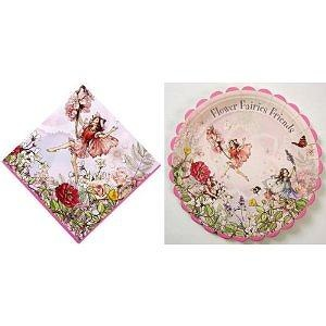 Meri Meri Educational Products - Flower Fairies Large Paper Plates and Napkins By Meri Meri - 20 Paper Napkins 9  x 9  folded a  sc 1 st  Toys to learn by & Meri Meri Educational ProductsFlower Fairies Large Paper Plates and ...