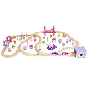 Bigjigs Toys Fairy Town Train Set (75 - Pieces)