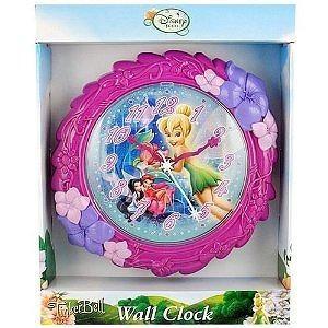 "Disney Tinkerbell Fairies Wall Clock, 8""H"