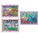 4 Item Bundle: Melissa & Doug Peel & Press Sticker by Number Sets - Includes Mermaid + Unicorn + Fairytale Princess + Free Acti