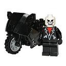 "2"" Custom Ghost Rider Mini Figurine with Motorcycle (Johnny Blaze)"