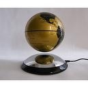 B&M Global Distribution, LLC Educational Products - Levitating Globes 6 Inches Gold & Black - Levatating Globe