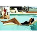 The Splash Lounger Deck Sun Chaise & Pool Floater Color: Cream  The Splash Lounger Deck Sun Chaise & Pool Floater Color: Chocol