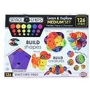 Monkey Business Sports Space Chips Learn and Explore Medium Set (126 Pieces)