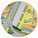 Road, Rail & Airport Playmat - makes travel & transport exciting! (Diam. 88cm)
