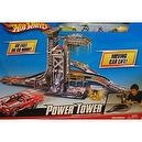 Hot Wheels KidPicks Power Tower Car Obstacle Course Set with Moving Car Lift