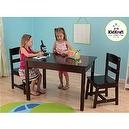 KidKraft Rectangle Table and 2 Chair Set - Espresso  Rectangle Table & Two Chair Set