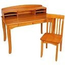 KidKraft Large Avalon Desk - Honey  Kidkraft Avalon Kids Desk with Hutch