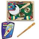 Melissa & Doug Band in a Box Plus Wooden Kazoo and Recorder