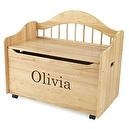 KidKraft Personalized Limited Edition Toy Box-Natural Brown Library Font,Olivia  KidKraft Personalized Limited Edition Toy Box-