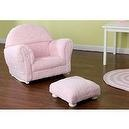 KidKraft Personalized Rocker with Ottoman,Pink Chenille  KidKraft Personalized Rocker with Ottoman