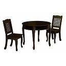 Round Table 2 Chair Set - Windsor Collection Espresso