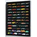 Hot Wheels Matchbox 1/64 scale Diecast Display Case Cabinet Wall Rack w/UV Protection -Black  Hot Wheels Matchbox 1/64 scale Di