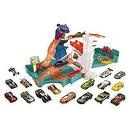 Hot Wheels Sharkbite Bay Track Playset with 18 Cars