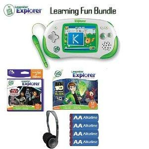 Leapfrog Leapster 39100 Explorer Green Game System Learning Sports And Play Bundle