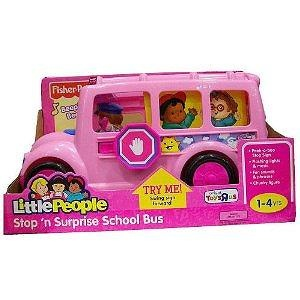 Pink Lil Movers School Bus Little People by Fisher-Price