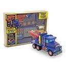 Melissa & Doug Deluxe Wooden Mighty Builders Tow Truck