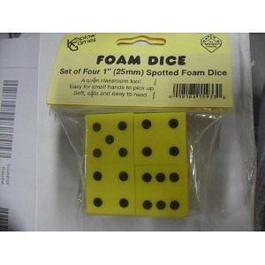 FOAM DICE 2 DOT SET OF 4