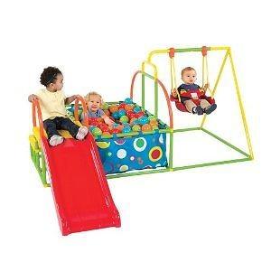 Toddler Swing Set, Slide & Ball Pit Activity Gym