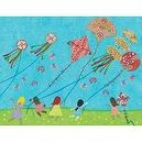 Oopsy daisy Kite Day Stretched Canvas Wall Art by Libby Ellis, 40 by 30-Inches