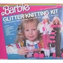 VINTAGE Barbie GLITTER KNITTING KIT w Easy To Use LOOM & GLITTER YARN (1986)