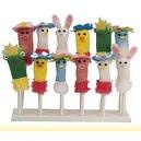 66 Finger Puppets with Stand- Easter Farm Animal, Knit, Frog Rabbit Pig...