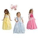4 Item Bundle: Princess Costume Set - Cinderella, Belle, Sleeping Beauty - + Hair Bow - Girls Ages 5-7 - Machine Washable!