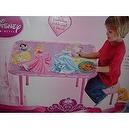 Disney Princess Washable Pink Vinyl Table & Stool Set (Aurora, Belle, and Cinderella)