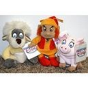 Rare Disney Black Cauldron Complete Set of 3 Plush Bean Bag Dolls Including Gurgi, Fairfolk, and Hen Wen Mint with Tags