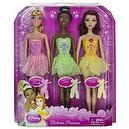 "Sleeping Beauty, Tiana, Belle: Disney Princess Ballerina ~11.5"" Doll Gift Set"