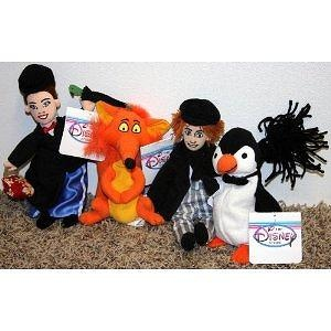 Rare Disney Mary Poppins Complete Set of 4 Bean Bag Plush Including Mary Poppins, Fox, Bert, and Penguin Mint with Tags