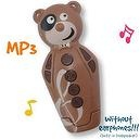 Chocolate Bidou 2GB - MP3 player for babies and kids with built-in loudspeaker