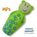 "Green ""Pop"" Bidou 2GB - MP3 player for babies and kids with built-in loudspeaker"