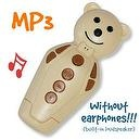 Ivory/Caramel Bidou 2GB - MP3 player for babies and kids with built-in loudsp...