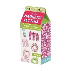 Mudpuppy Sweet Patterns Wooden Magnetic Lowercase Letters