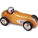 Vilac Old Fashioned Sports Car Toy, Natural Wood