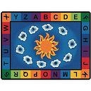 "Sunny Day Rectangle Carpet (84"" x 118"")  Sunny Day Learn & Play Rectangular Rug Size: 45"" x 510"""